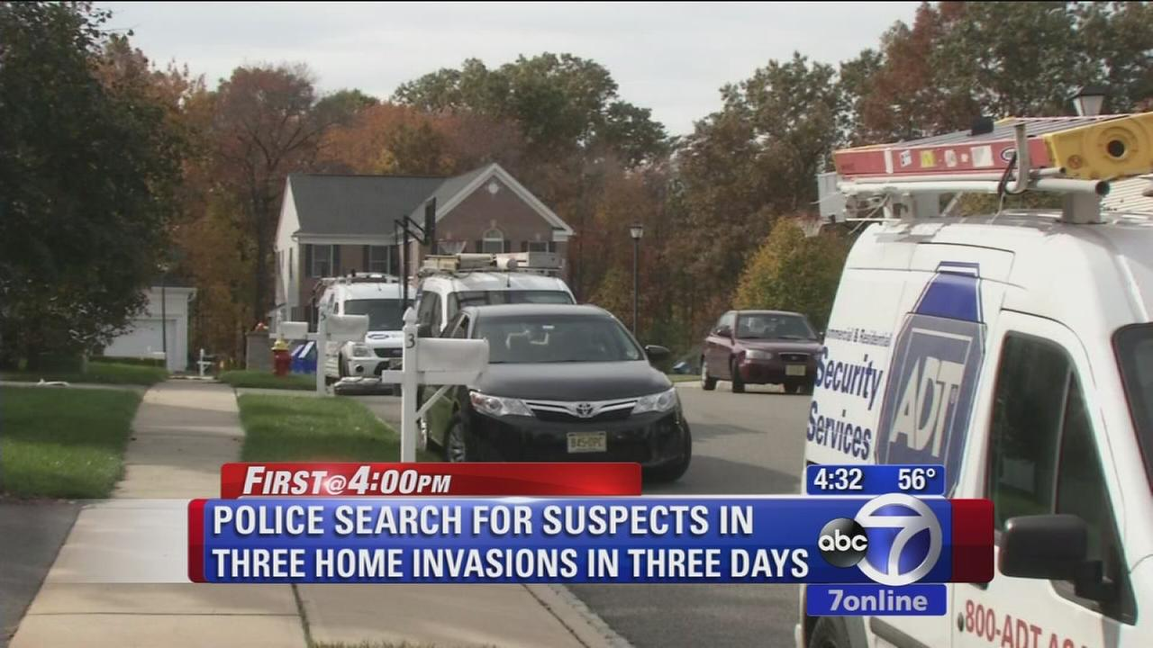 Search on for suspects in NJ home invasions