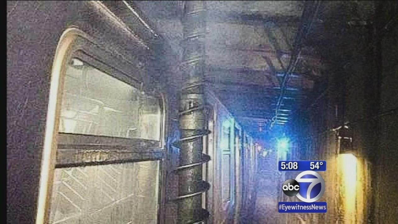 Giant drill hits top of subway in Queens