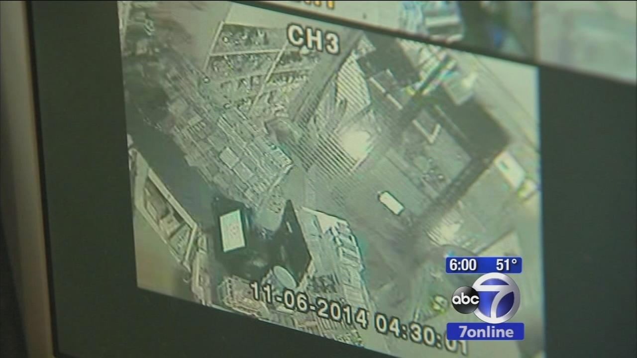 Thieves ram into Newark store with pickup truck; make off with ATM machine