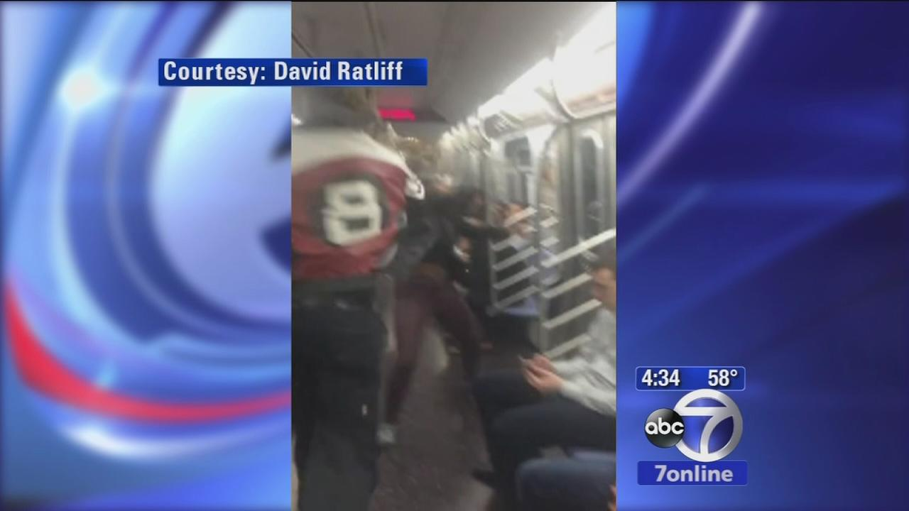 Police investigating subway slap turned brawl caught on viral video