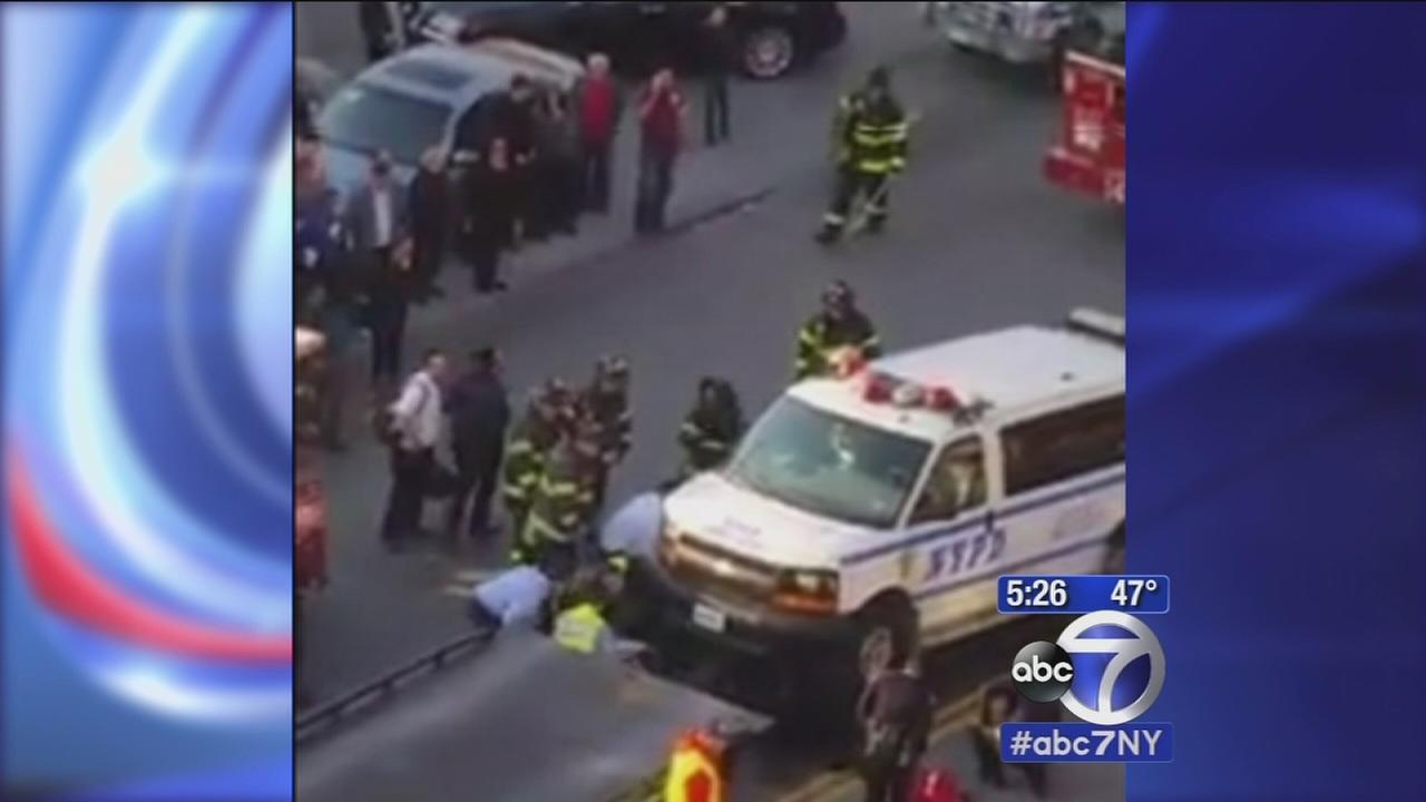 Dramatic rescue of teen trapped under van