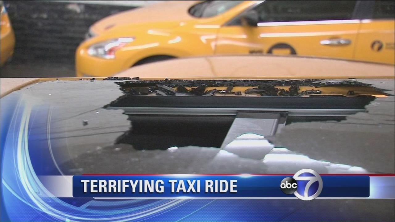 Sunroof shatters on new Taxi of Tomorrow