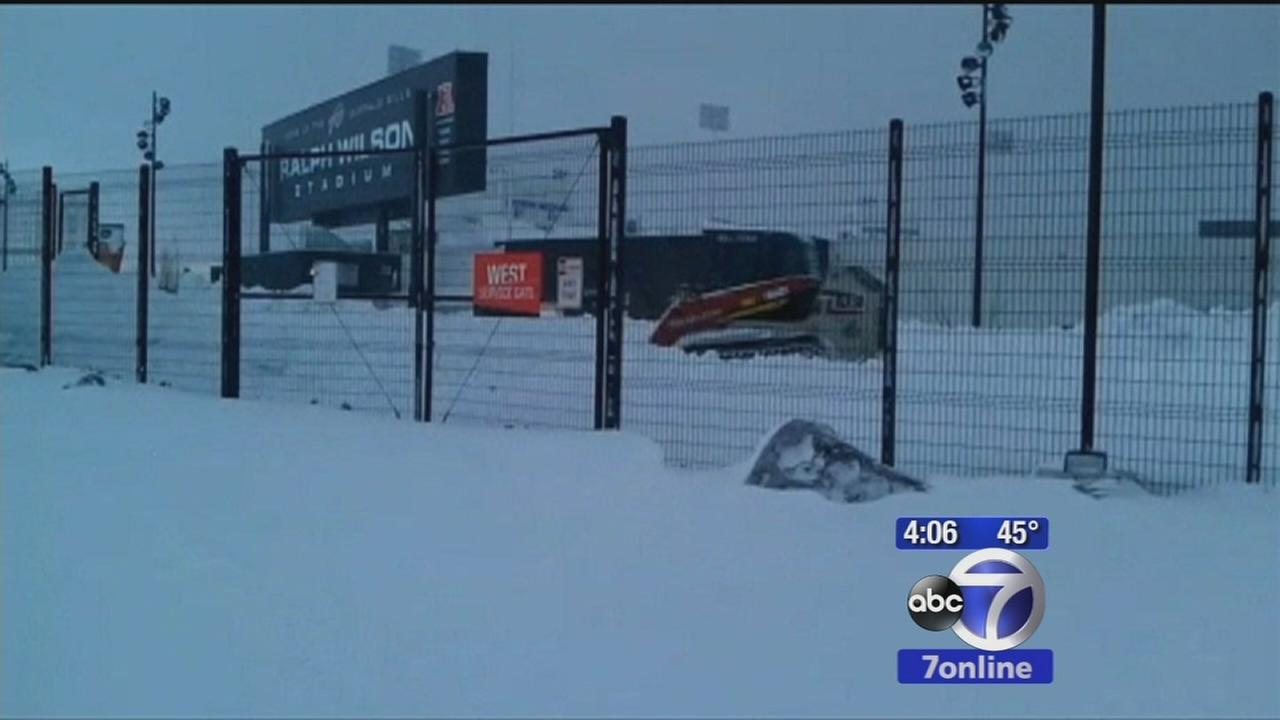 Buffalo buried in snow with more on the way
