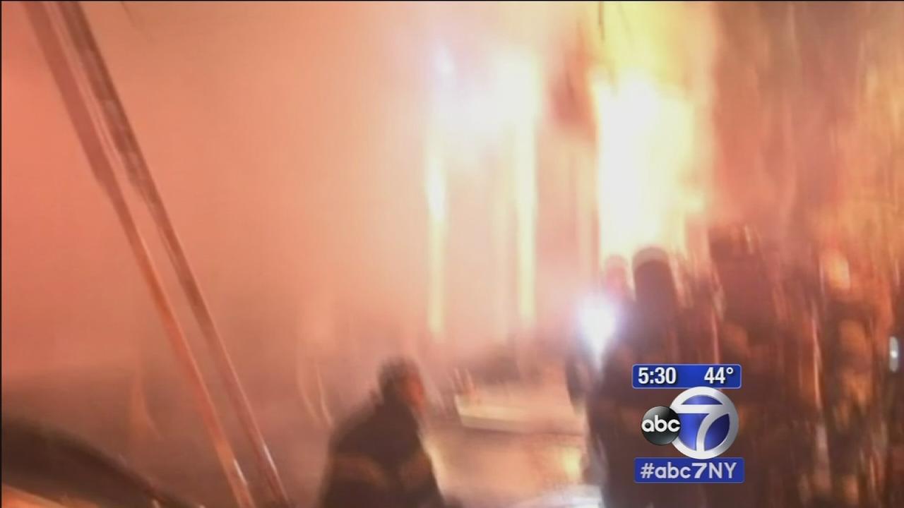 Upper West Side fire destroys 2 ambulances