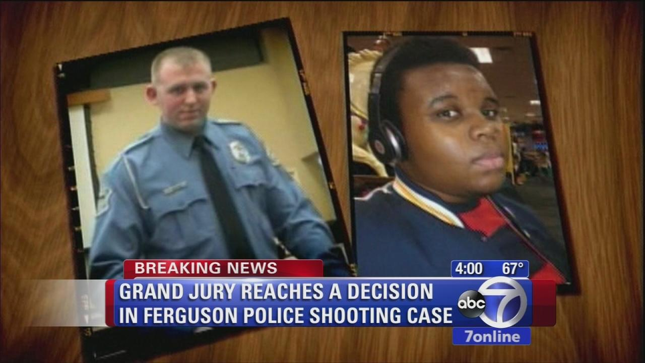 Ferguson grand jury reaches a decision in police shooting case, announcement to be made Monday night