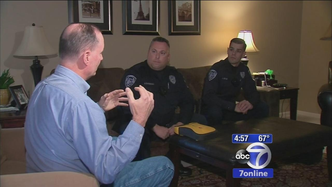 South Brunswick wife and police officers praised as heroes after saving man