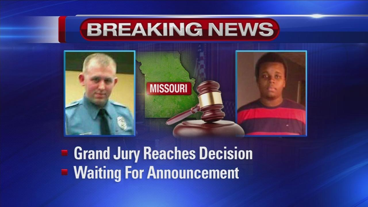 Ferguson grand jury reaches decision, announcement to be made Monday Night