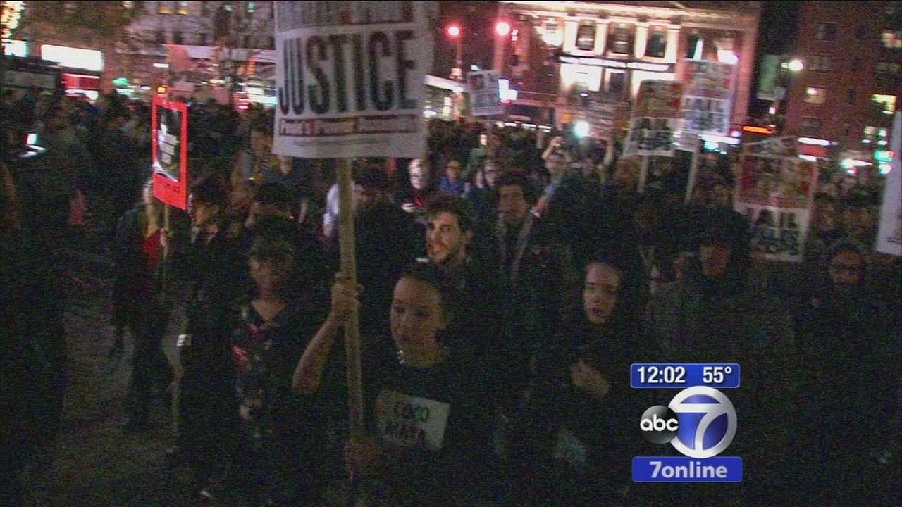 Ferguson protests held in New York City and Newark