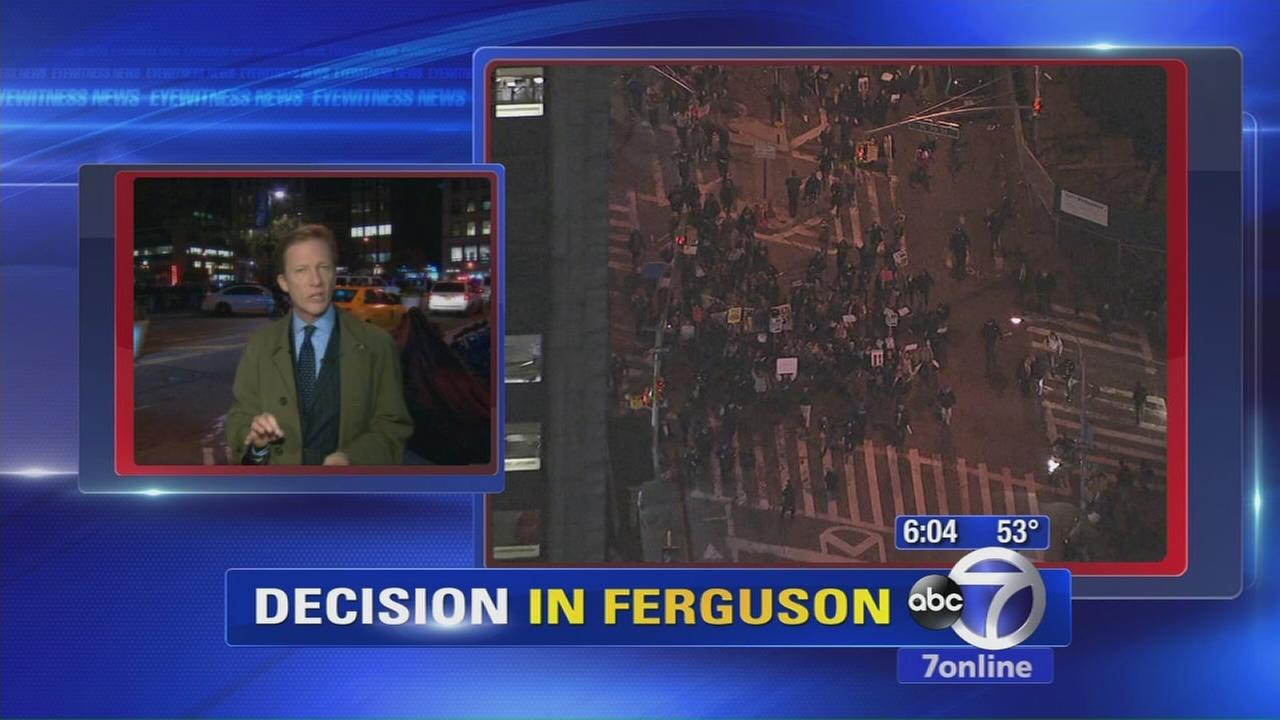 Protests in NYC over Ferguson decision