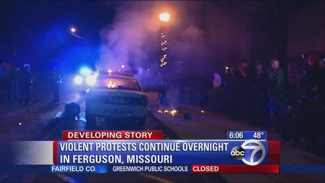 Quieter night in Ferguson