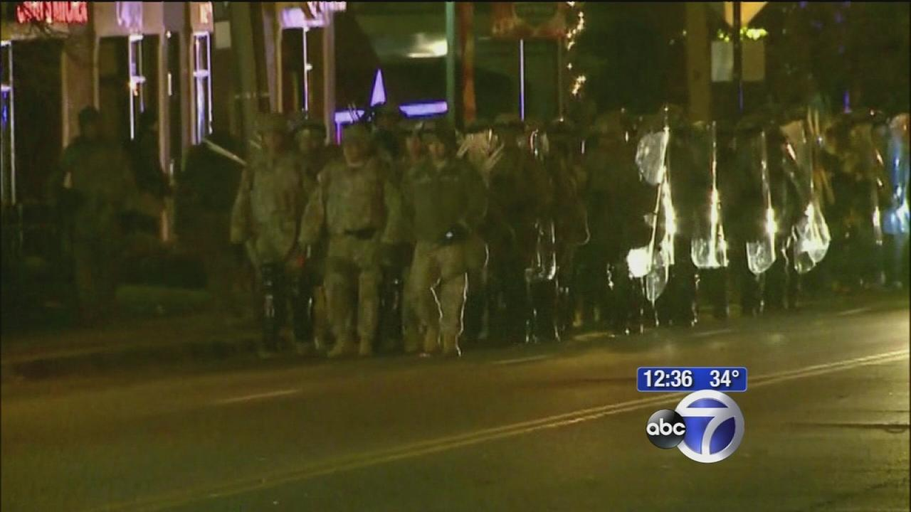 Much calmer night in Ferguson; officer speaks to ABC