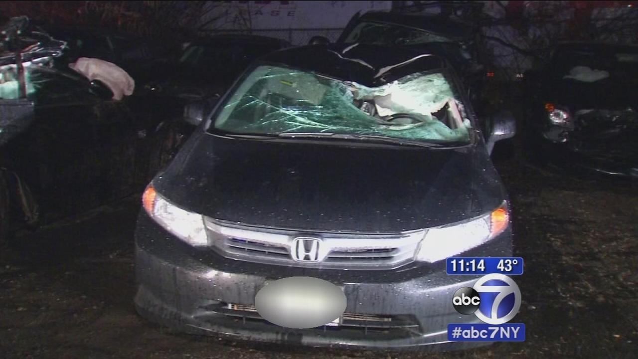 Tire flies off car, hits another injuring the driver in Clark