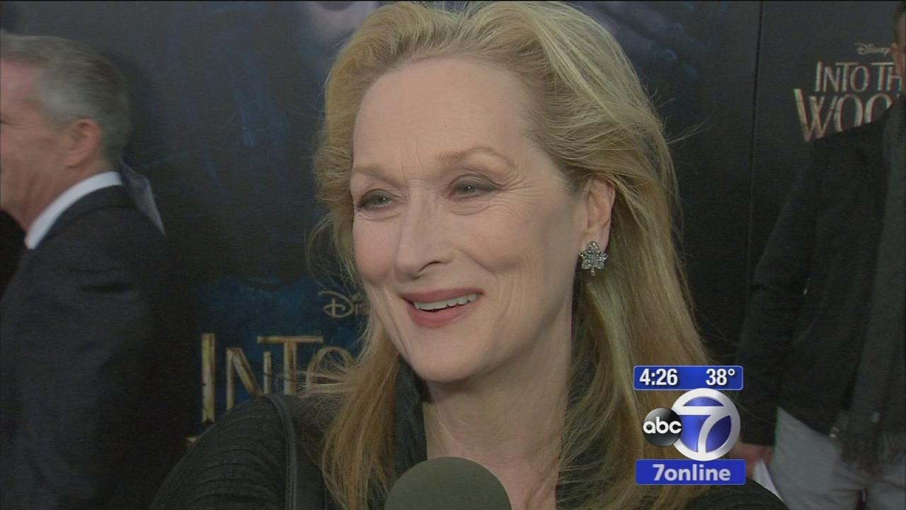 Sandy Kenyon chats with Into the Woods stars Meryl Streep, Anna Kendrick at premiere