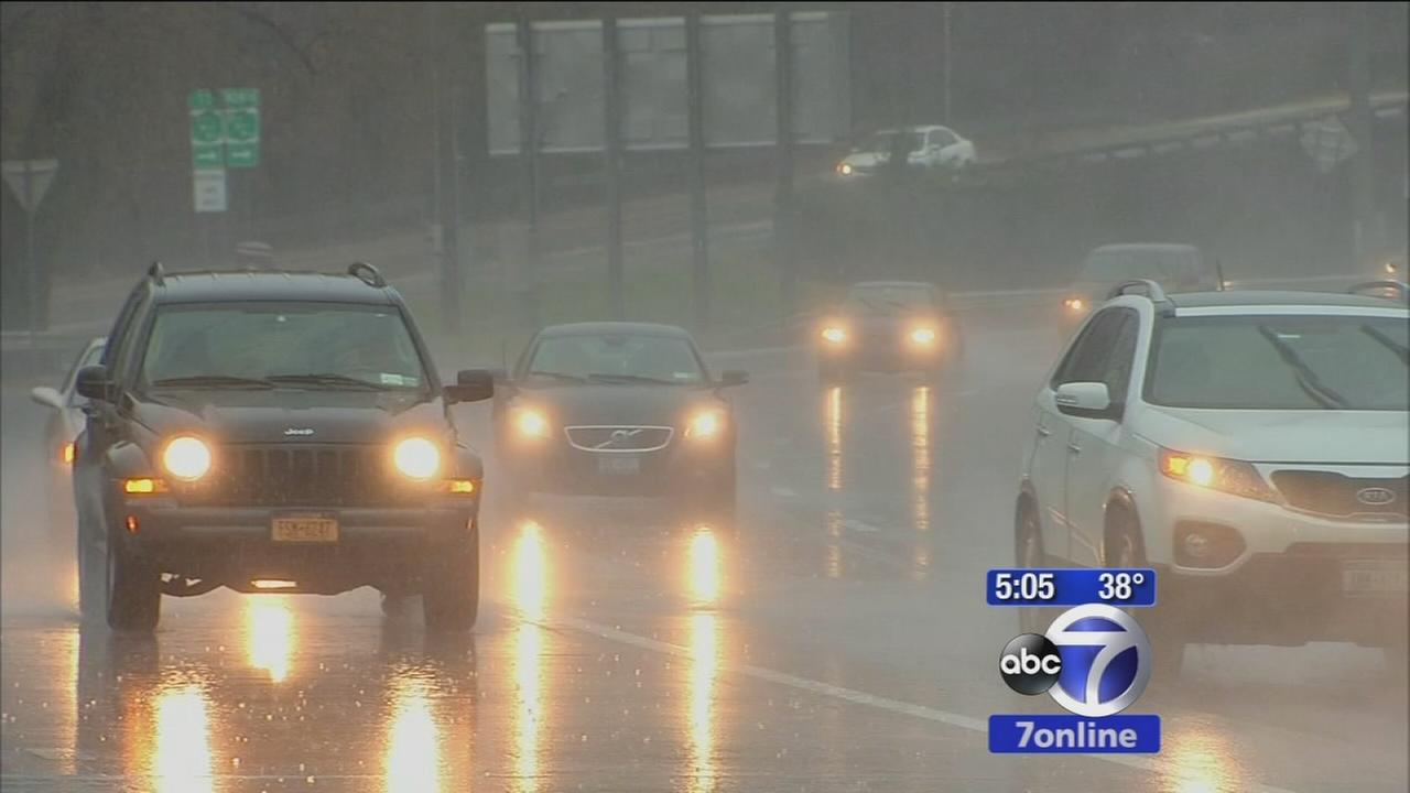 Westchester roads swamped by drenching rain