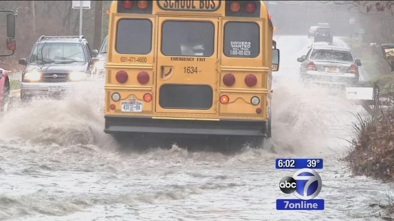 Long Island pounded by coastal storm