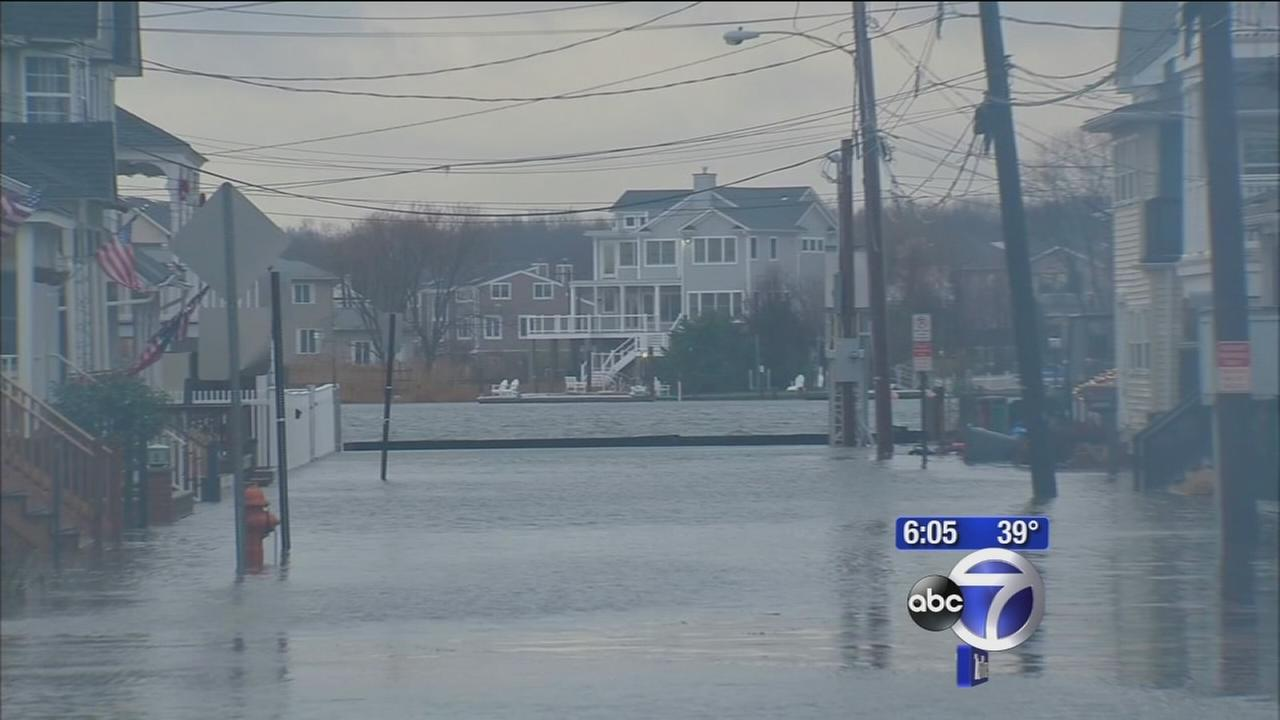 Storm leaves streets flooded in Sea Bright