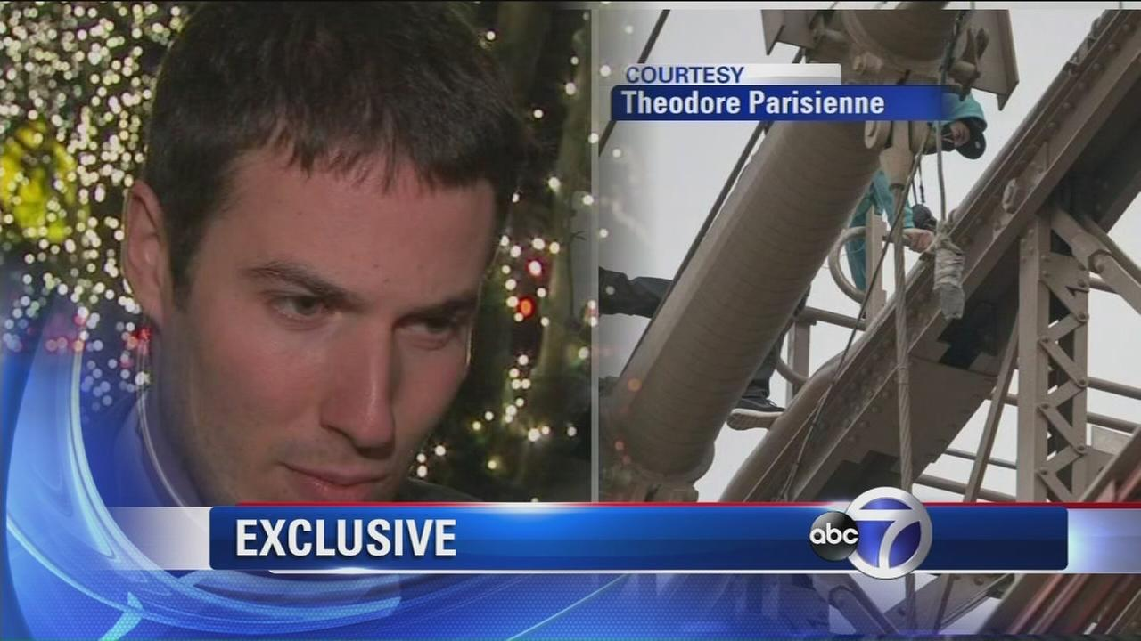 French tourist speaks out about why he climbed the Brooklyn Bridge
