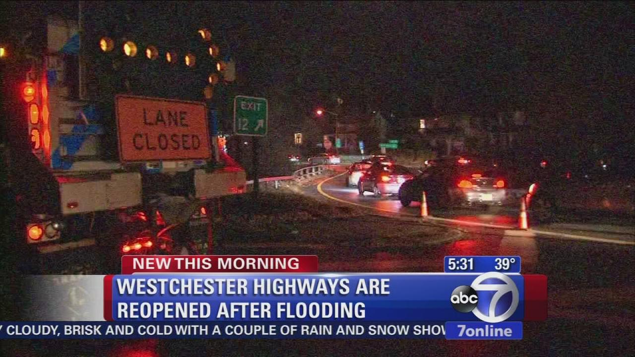 Highways reopen after flooding in Westchester