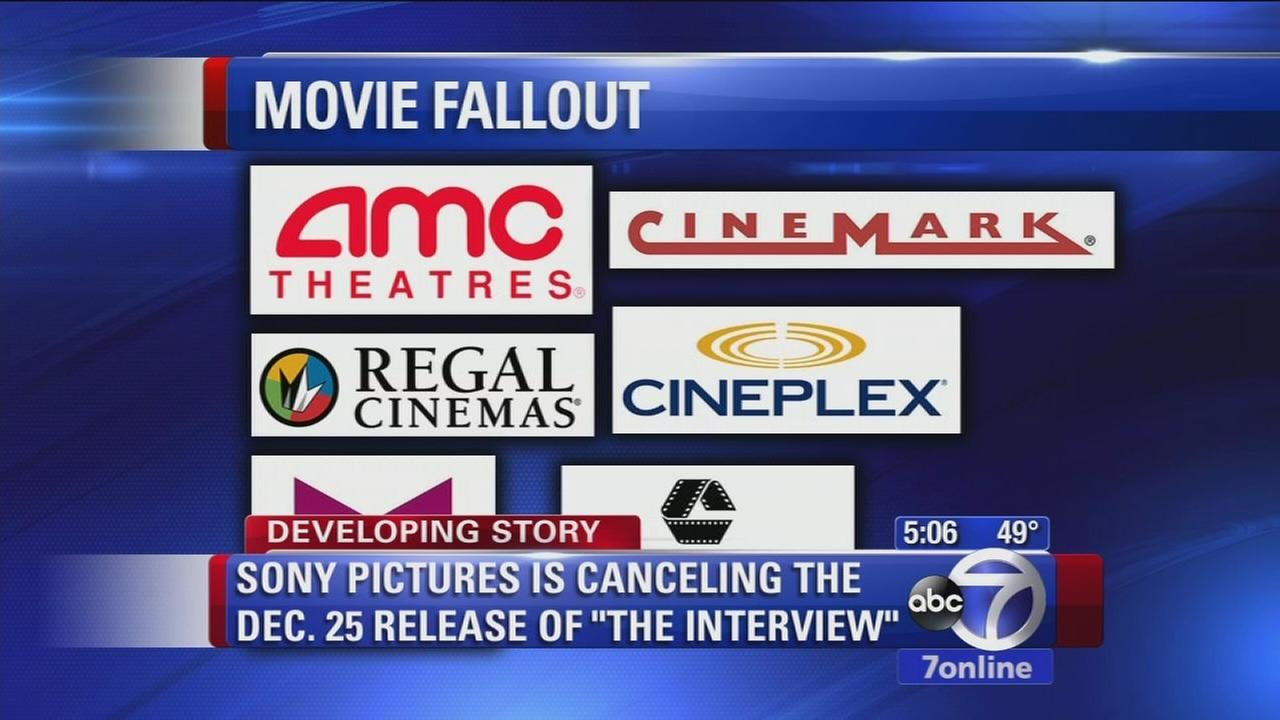 Sony pictures cancels Christmas release of The Interview amid hacker threats referencing 9/11