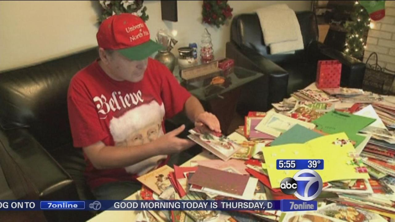 Strangers help to lift holiday spirit of man by sending Christmas cards