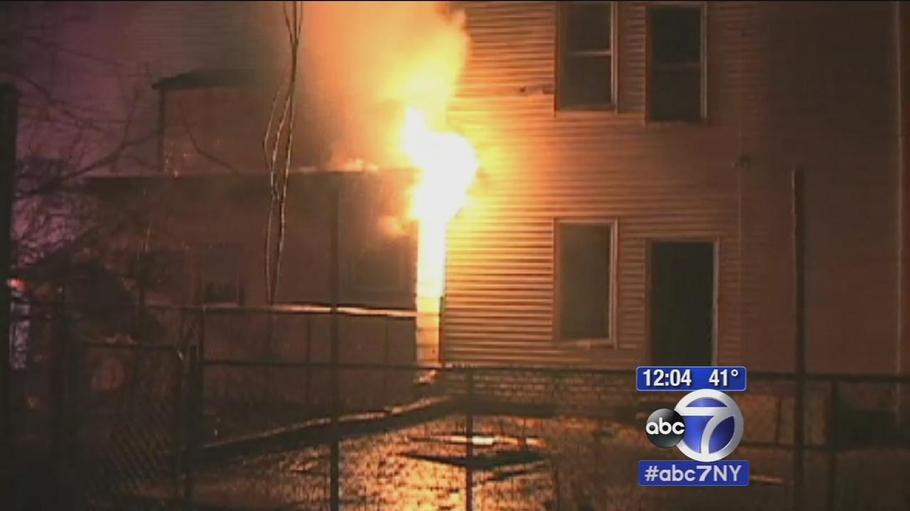 Crews battle 2 separate fires 1 block apart in Paterson