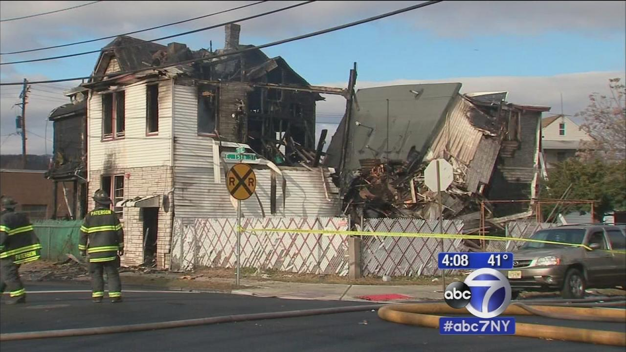 2 fires within 1 block in Paterson leave houses severely damaged
