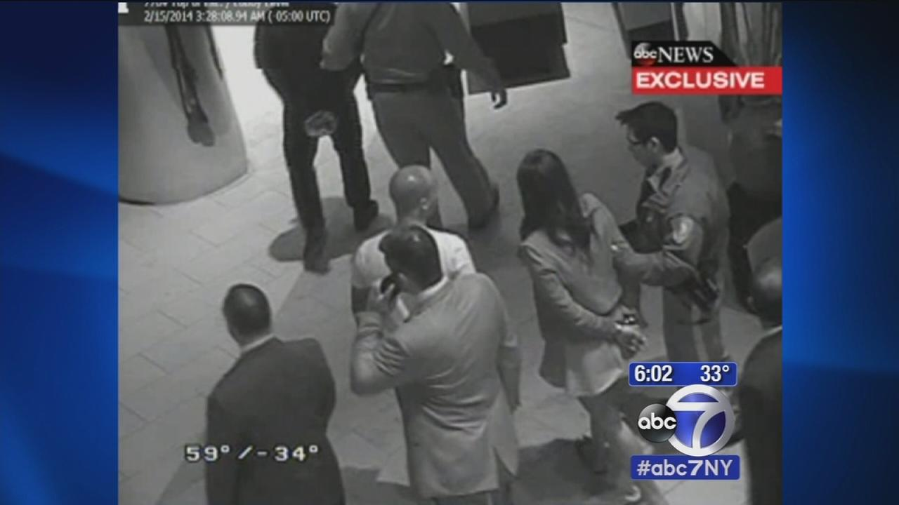 Remarkable new video shows what happens after Ray Rice, fiance taken into custody