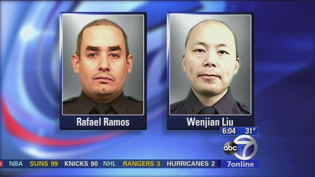 NYPD mourning loss of two slain officers