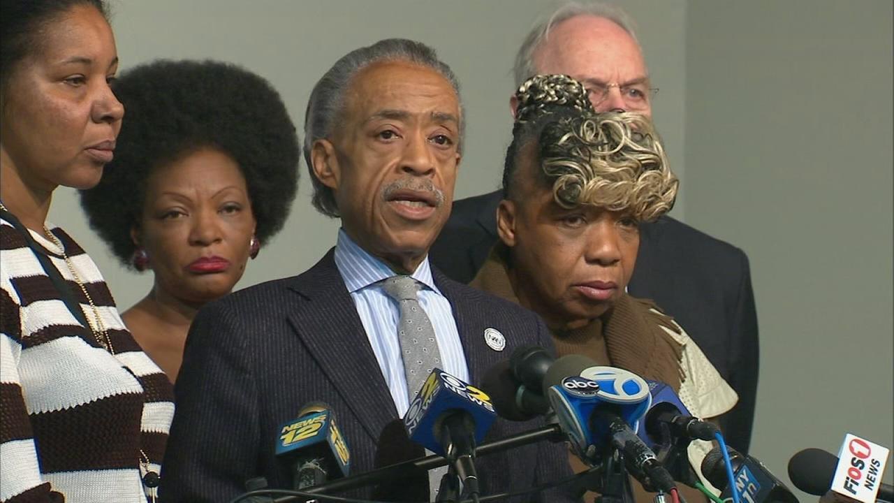 Rev. Sharpton and Garner family press conference