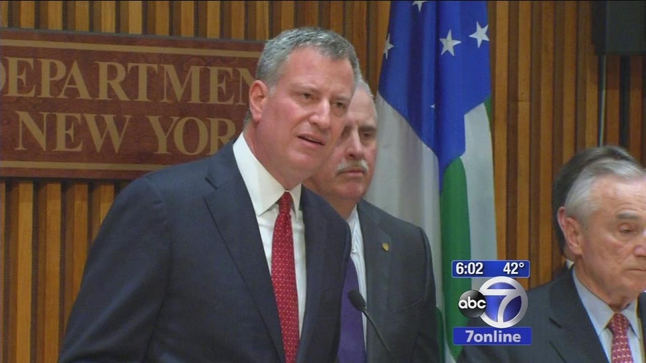 Mayor de Blasio speaks about relationship with police