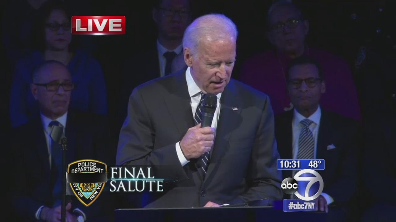 VIDEO: Vice President Joe Biden pays tribute to family of Rafael Ramos