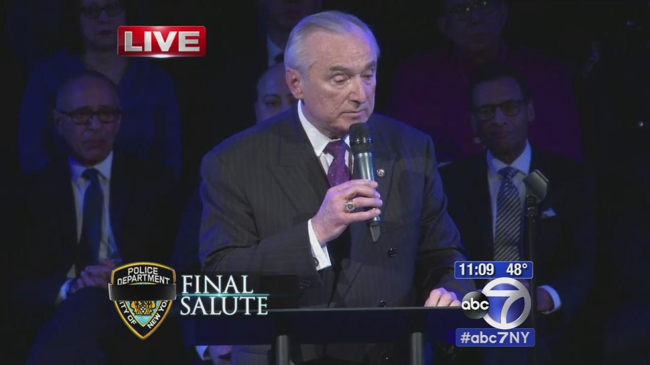 VIUDEO: Commissioner Bill Bratton tribute to Officer Rafael Ramos