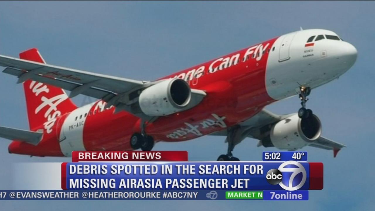 Debris spotten in search for missing AirAsia plane