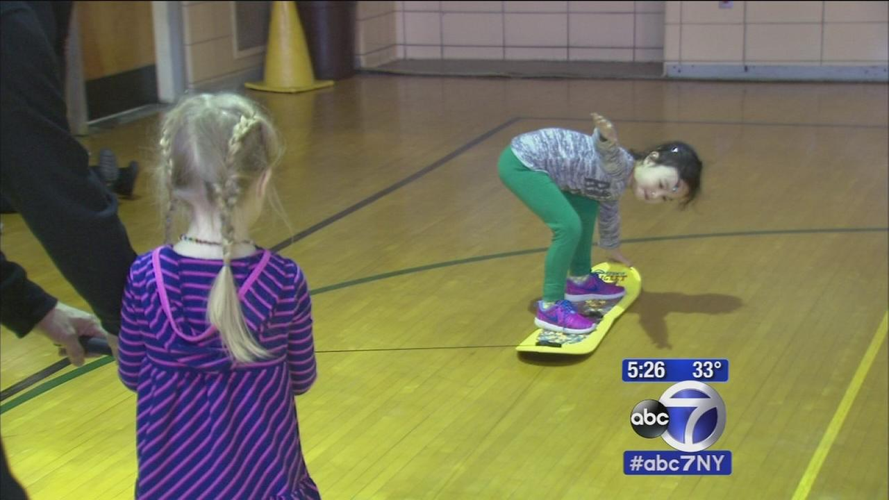 Snowboarding for kindergartners