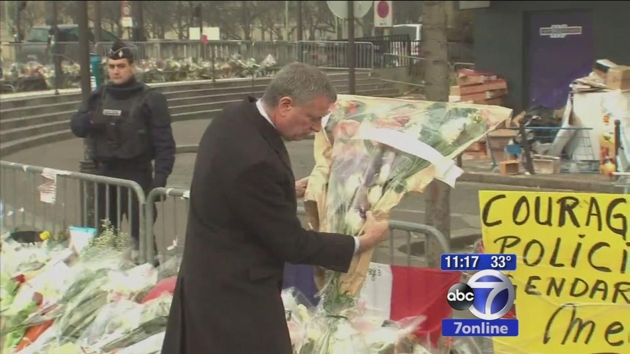 Mayor de Blasio visits Paris in show of support