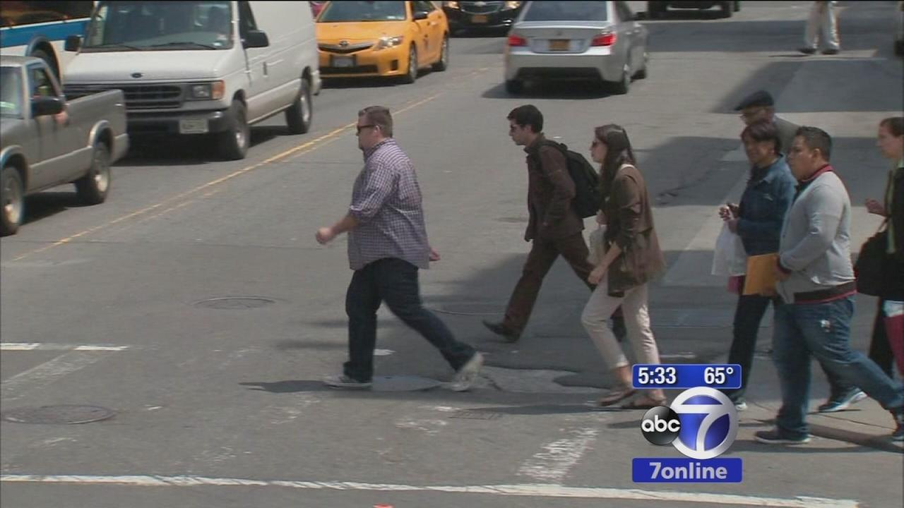 Pedestrian traffic fatalites down in NYC
