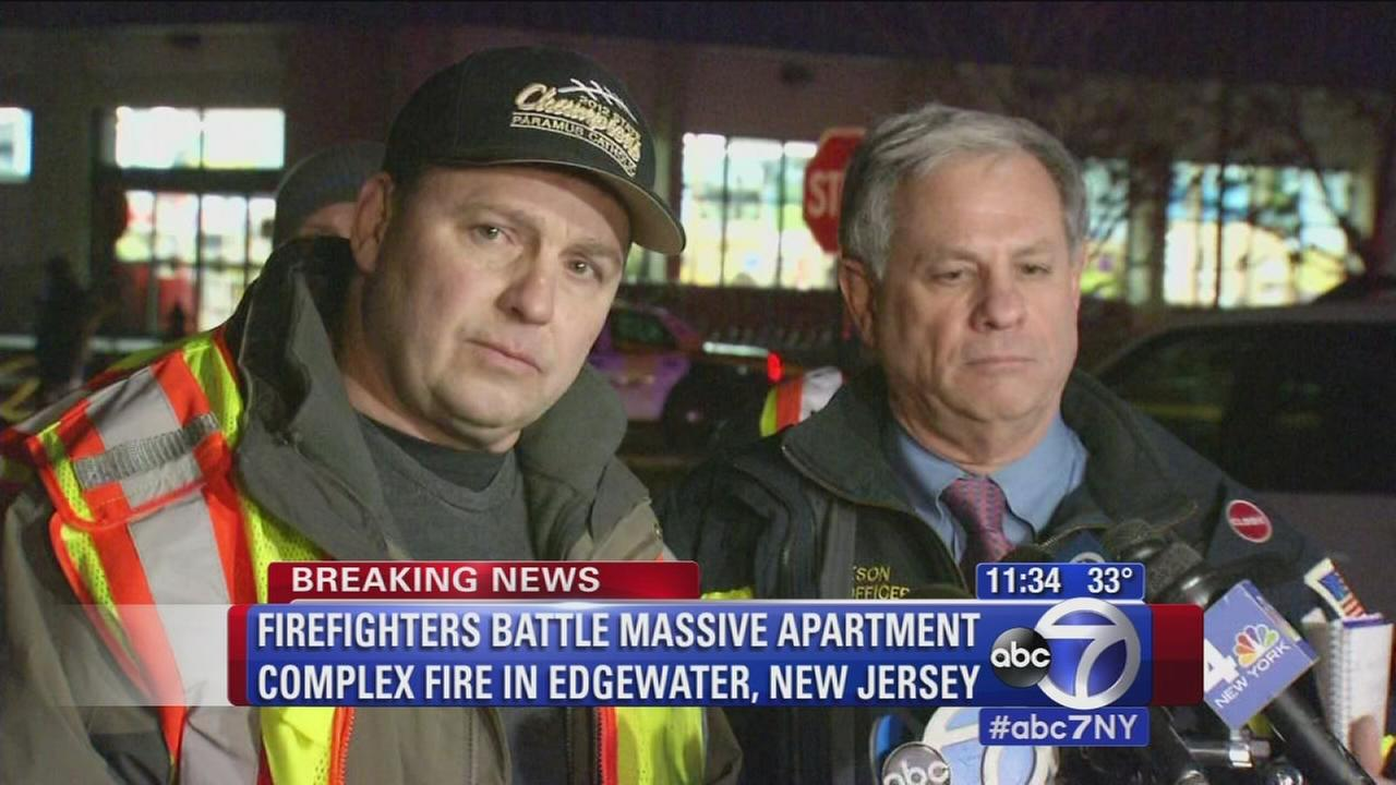 Officials comment on gas feeding the fire in Edgewater