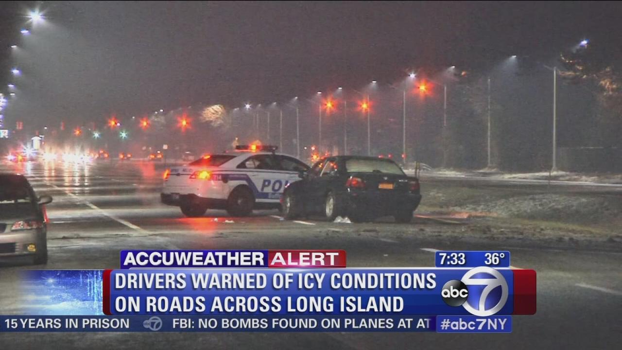 Drivers warned of icy roads after storm