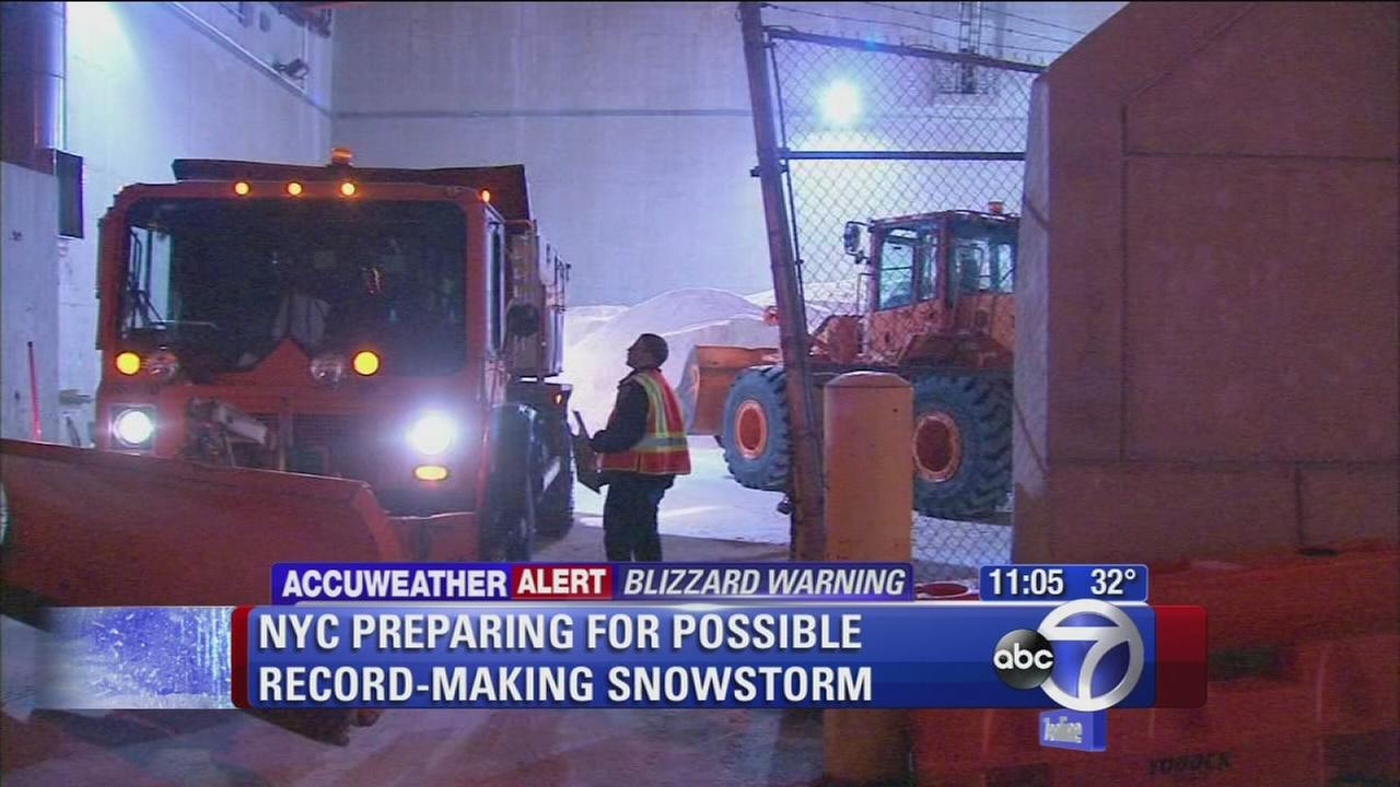 NYC preparing for possible record-making snowstorm