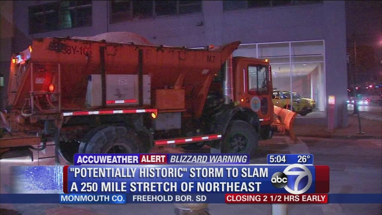 NYC prepares for massive snowstorm