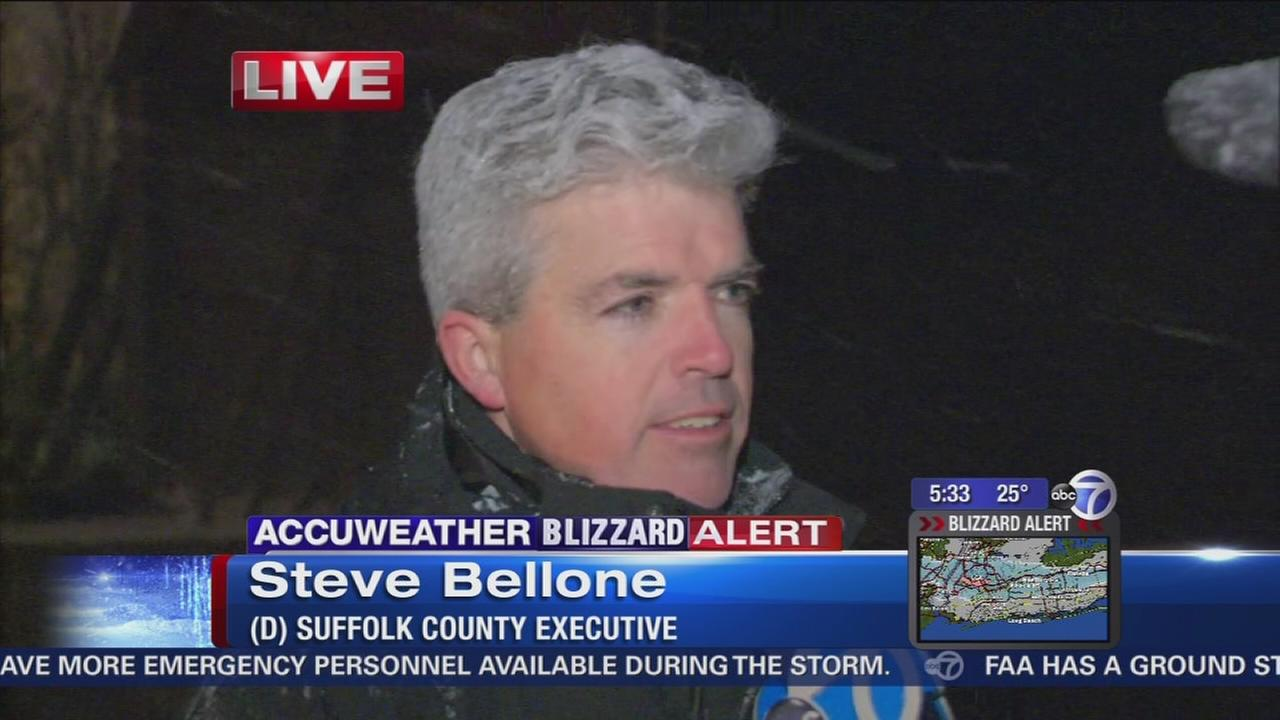 Suffolk County Executive Steve Bellone talks about snow storm