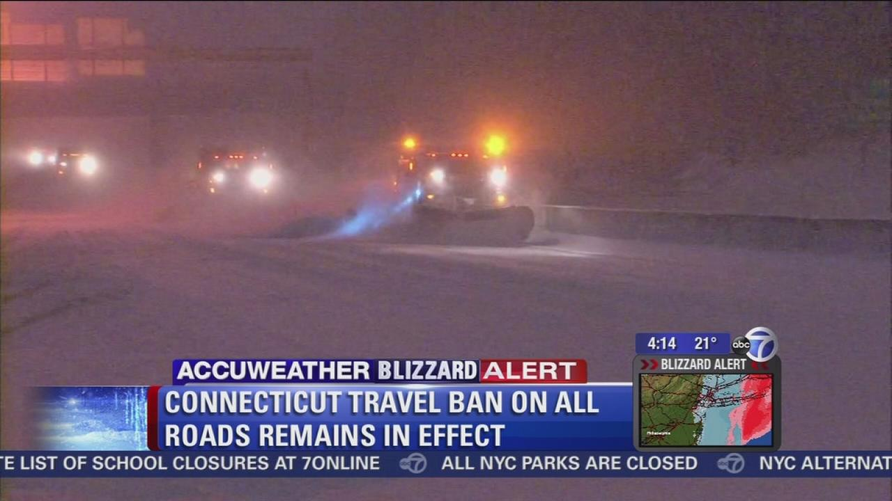 Statewide travel ban in Connecticut