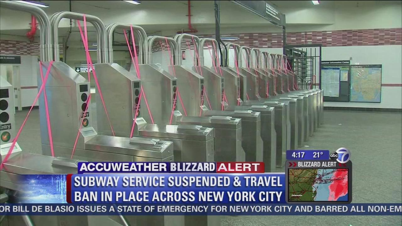 NYC subway service suspended