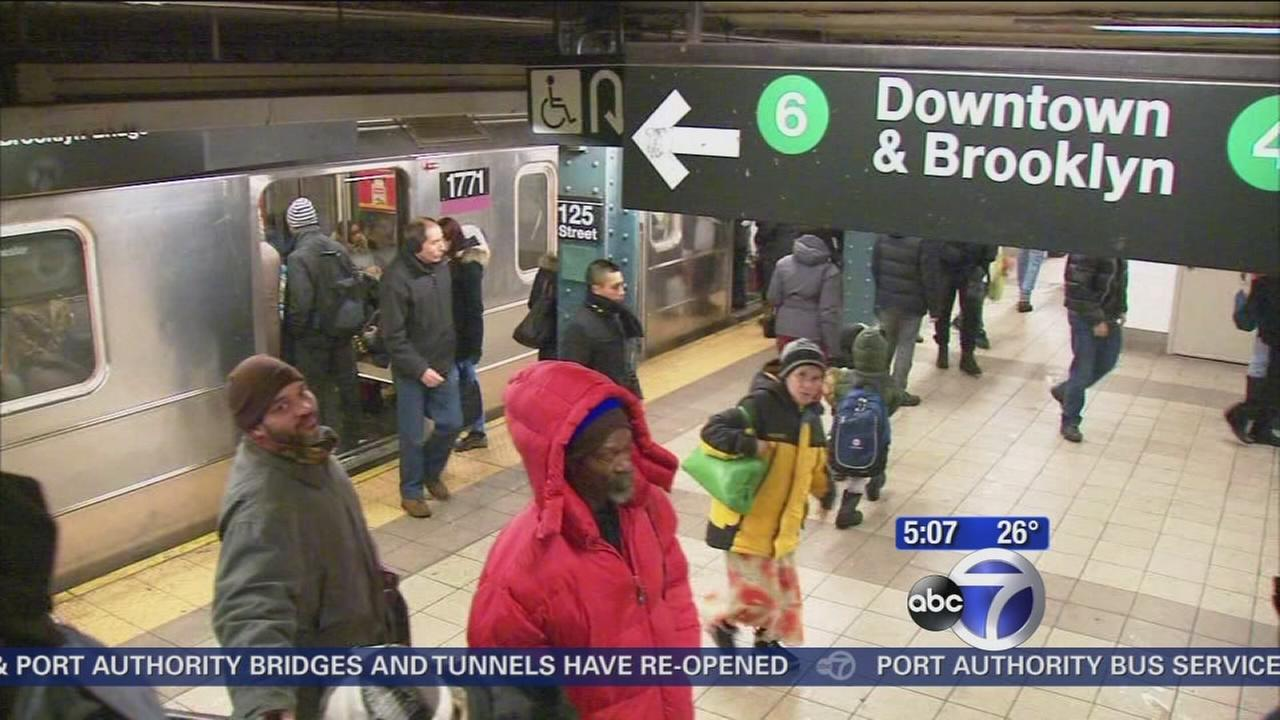 Subways back up and running after snow storm