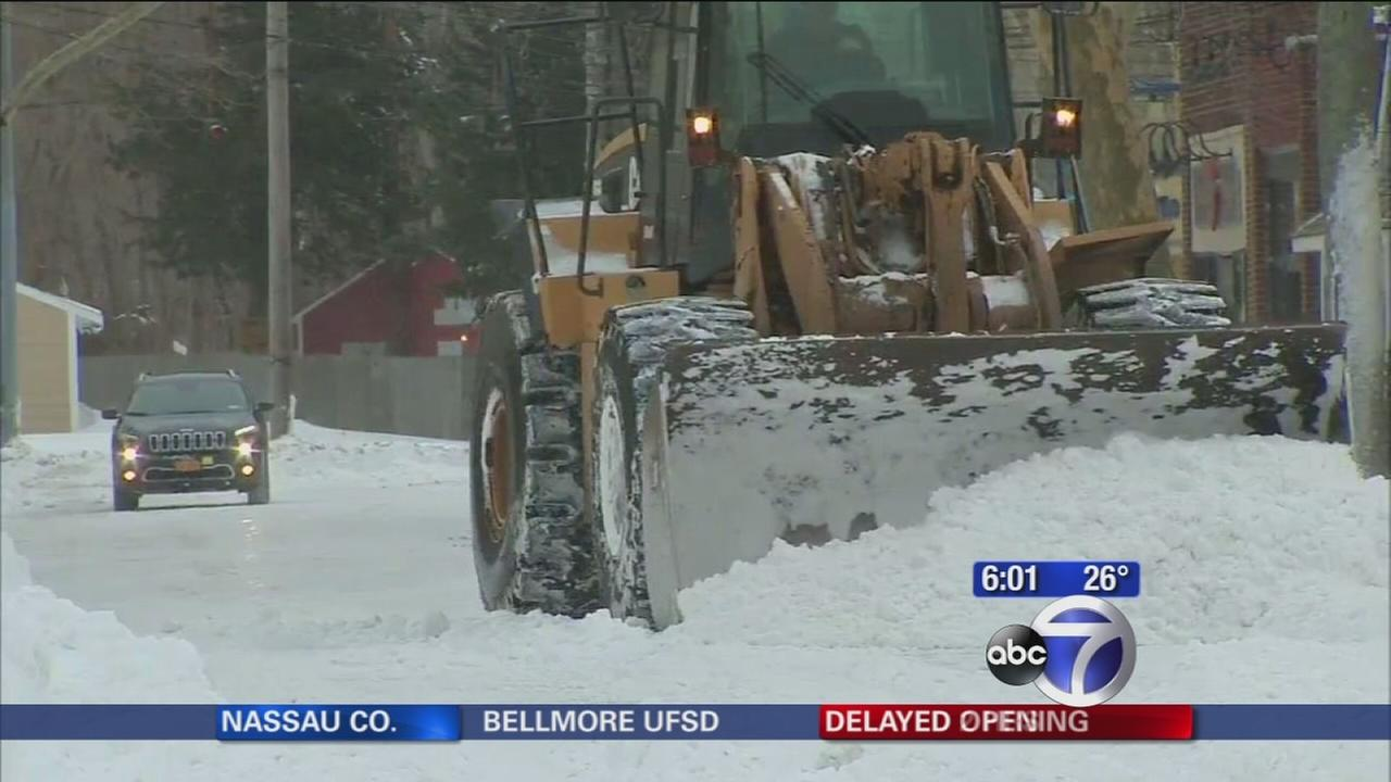 People digging out of deep snow in Suffolk County