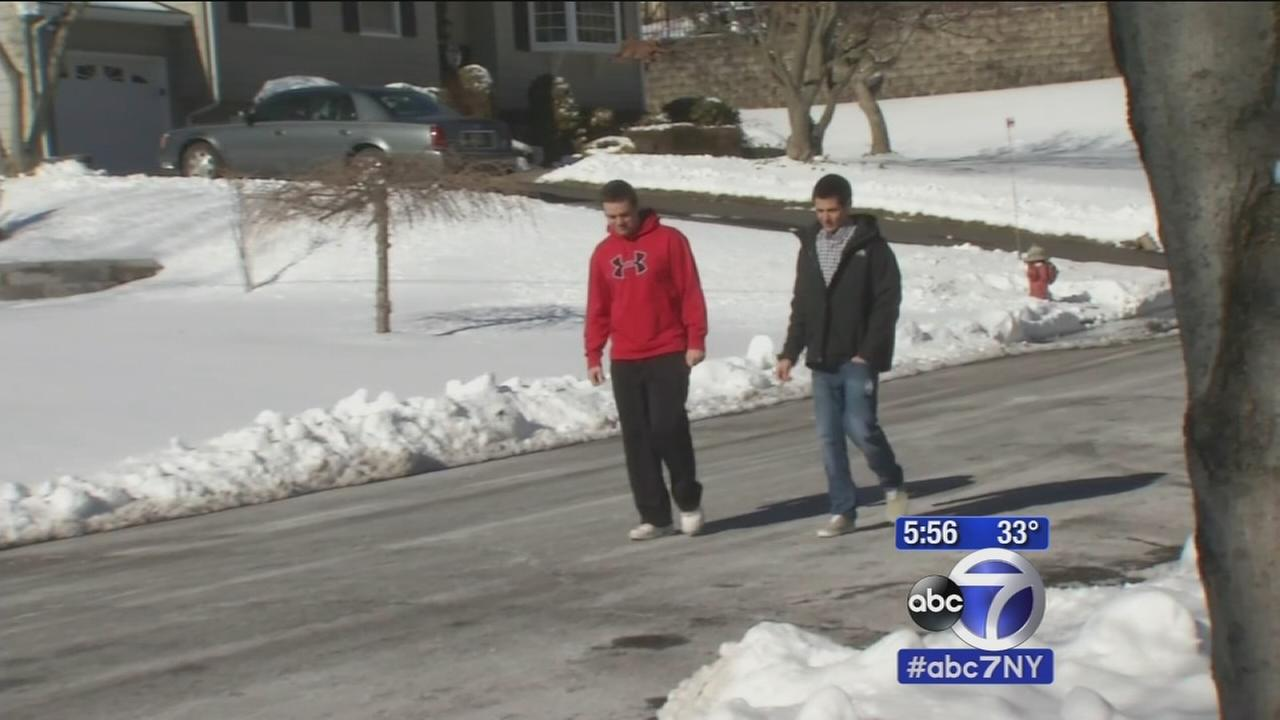 Boundbrook teens told to stop snow shoveling business