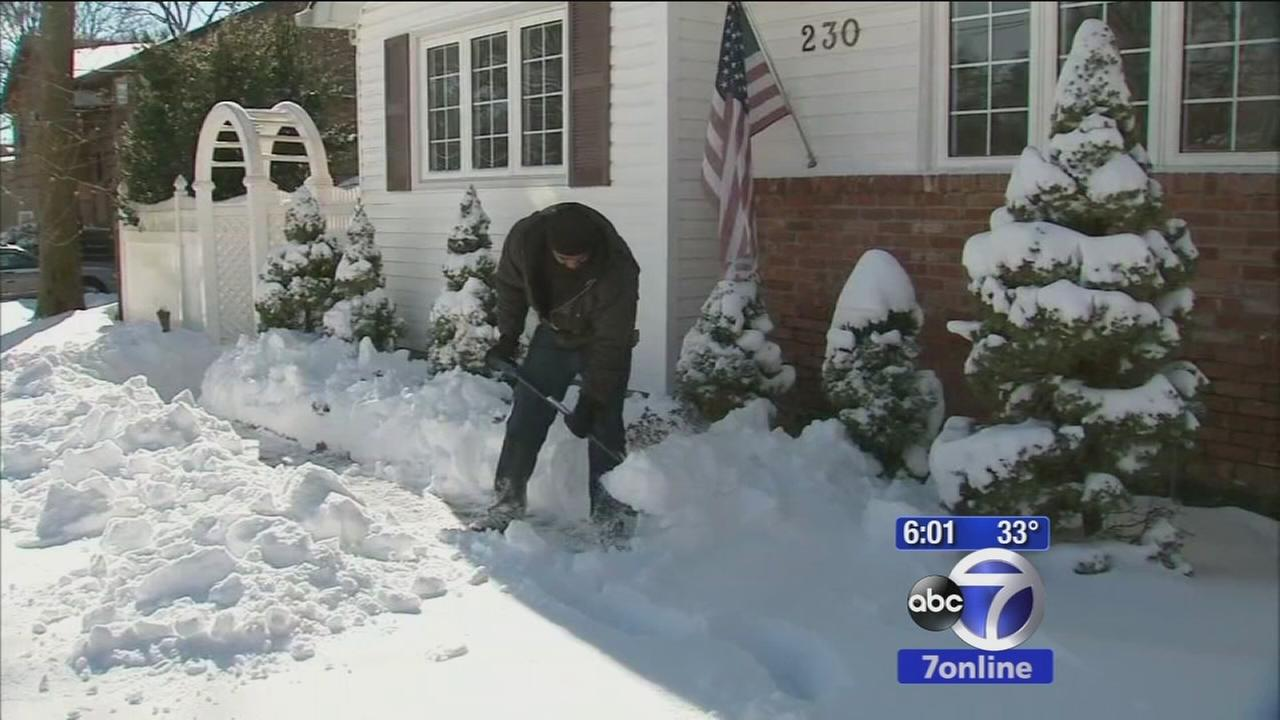 Suffolk County residents digging out, some stuck in homes