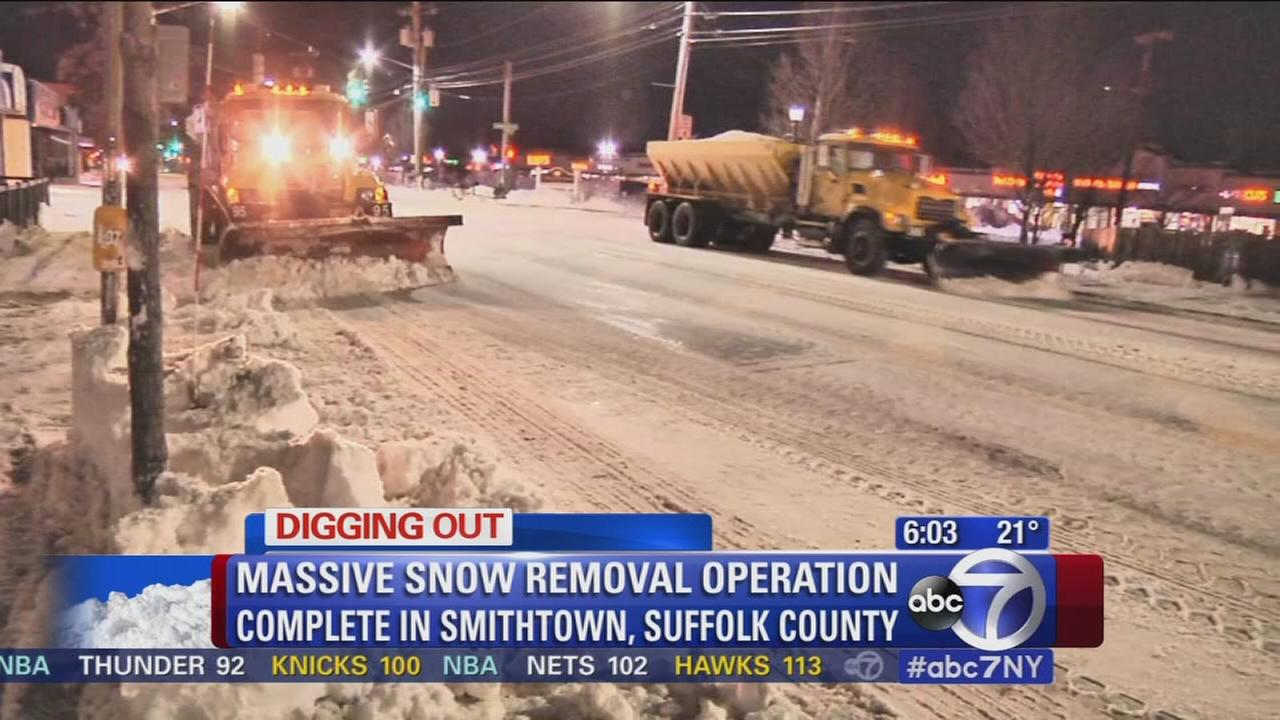 Masssive snow removal operation complete in Smithtown