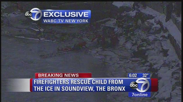 Firefighters speak out about dramatic ice rescue in the Bronx