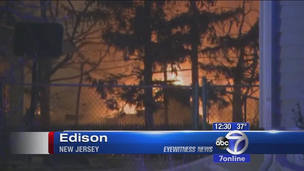 Firefighters battle hot spots after Edison fire destroys public works garage